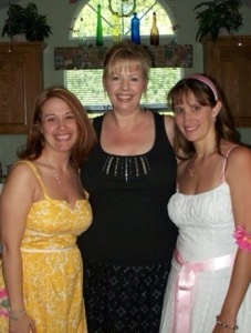 Me, Kay, and Pam and my wedding shower...T